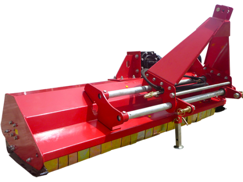 Hydraulic offset flail mulcher mower