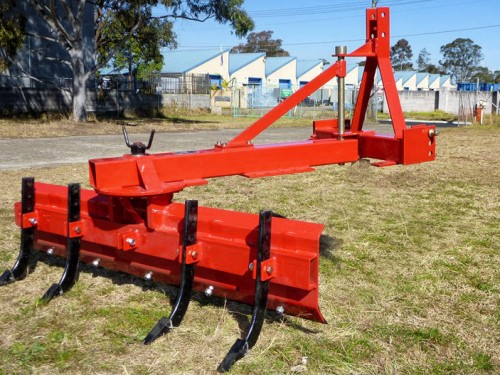 Grader blade and ripper combo
