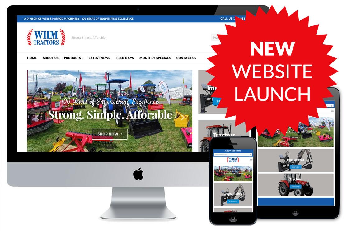 WHM Tractors New Website Launch