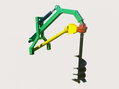 Hydraulic assist post hole digger