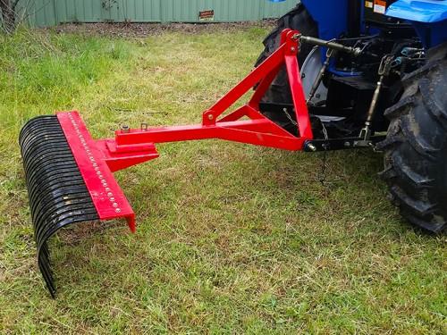 Stick rake landscape rake